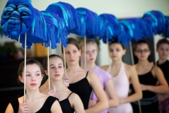 "Dancers rehearse ""The Caterpillar"" - photo by Troy R. Bennett"